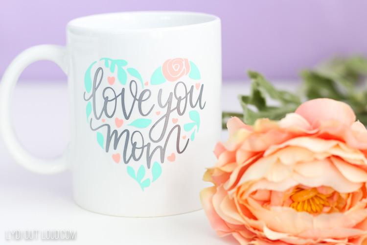 DIY Vinyl Mother's Day mug