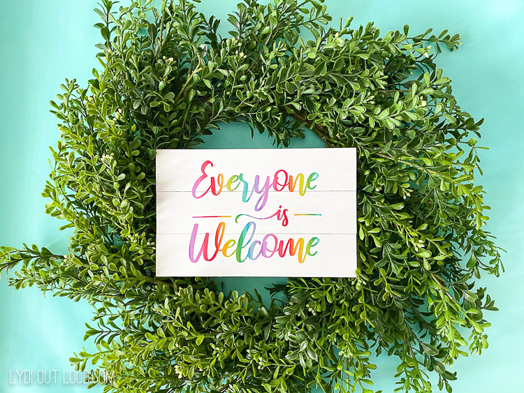 Everyone is Welcome DIY Wreath