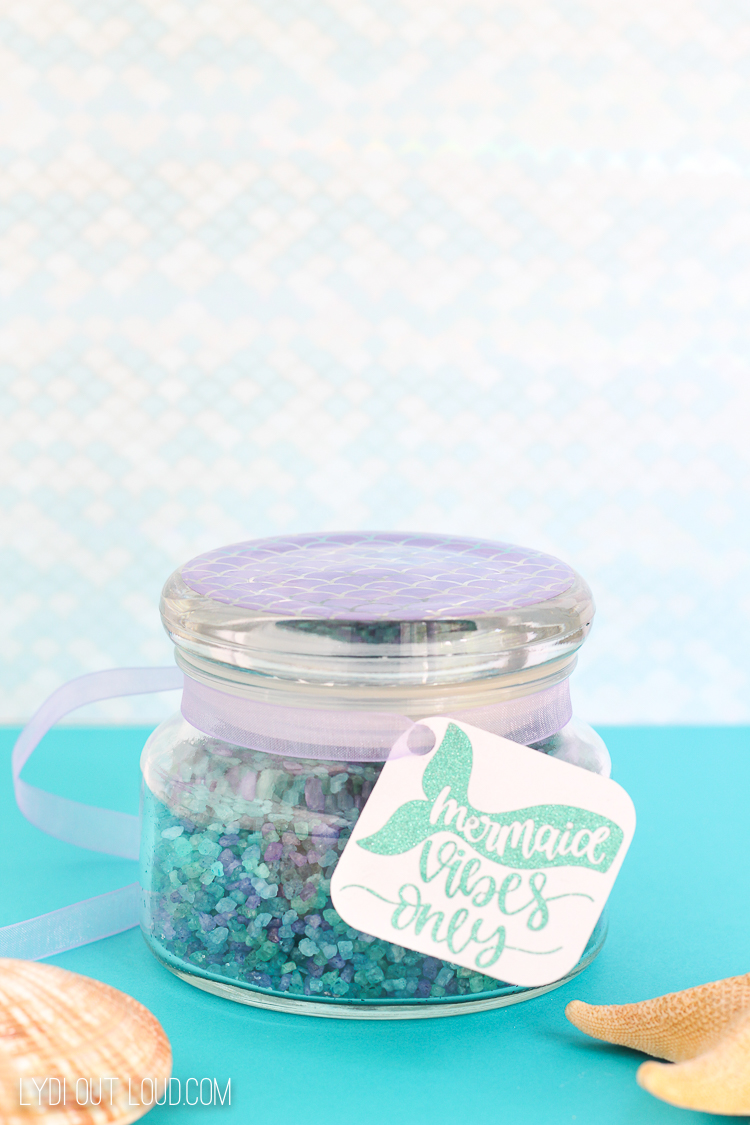 Homemade Fizzy Mermaid Bath Salt