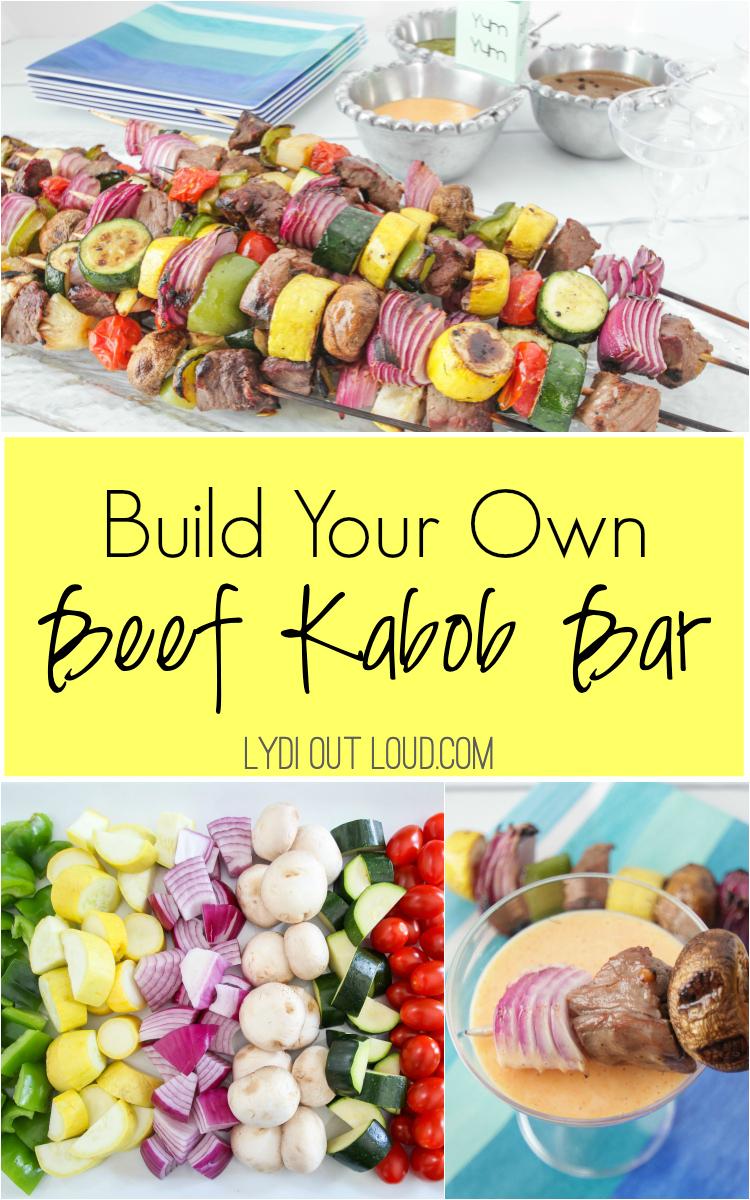 Build Your Own Grilled Beef Kabob Bar via @lydioutloud
