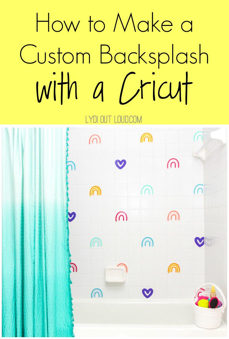 How to Make a Custom Backsplash with a Cricut Maker via @lydioutloud