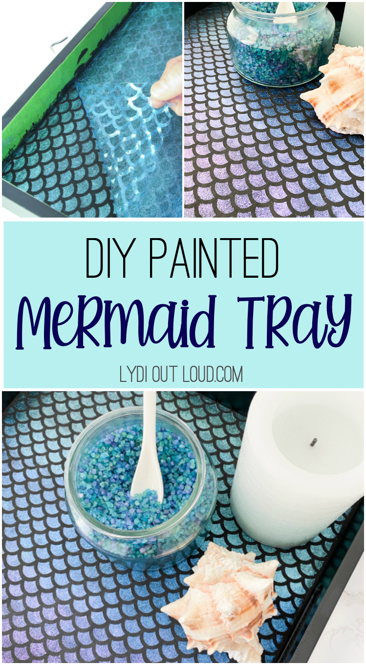 How to paint a mermaid-inspired serving tray via @lydioutloud