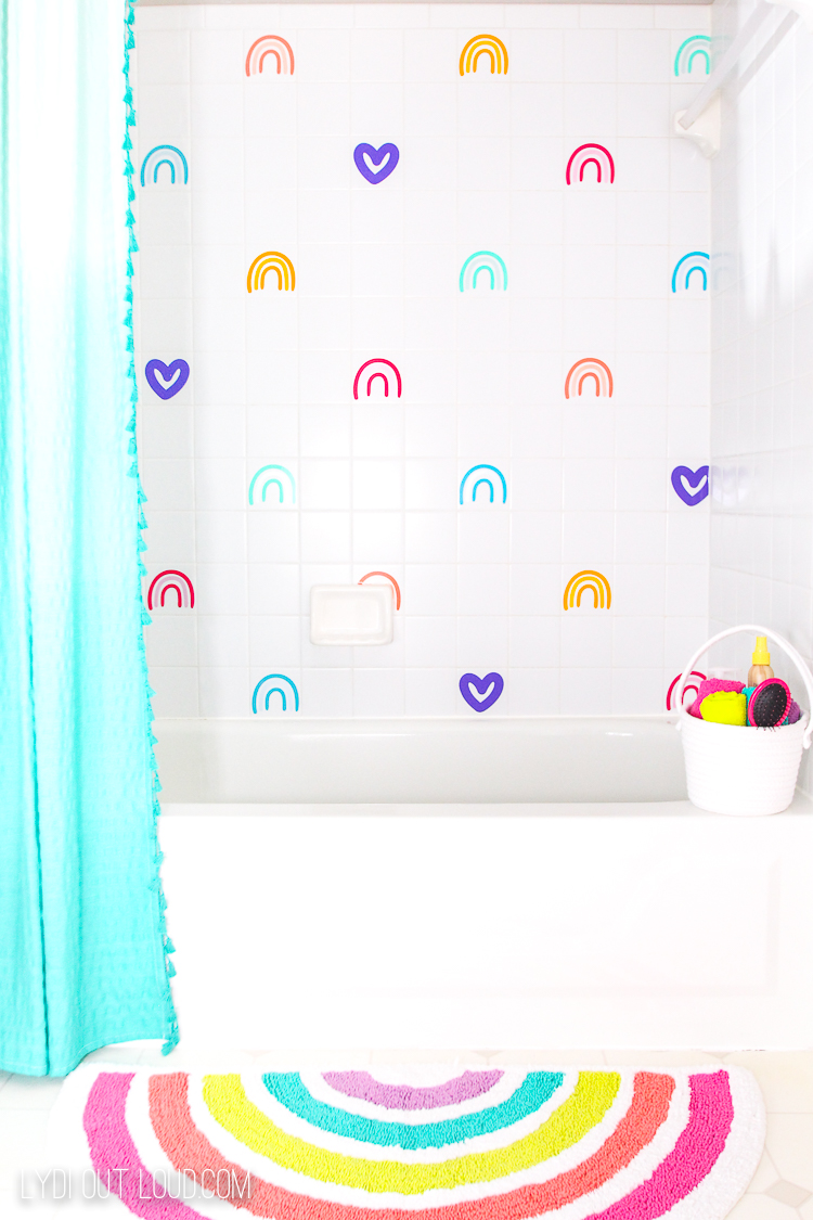 Rainbow Kids Bathroom Decor