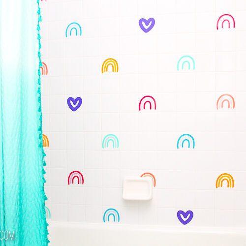 DIY Backsplash for Kids Room