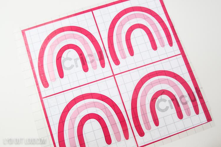 rainbow cut file Cricut Design Space