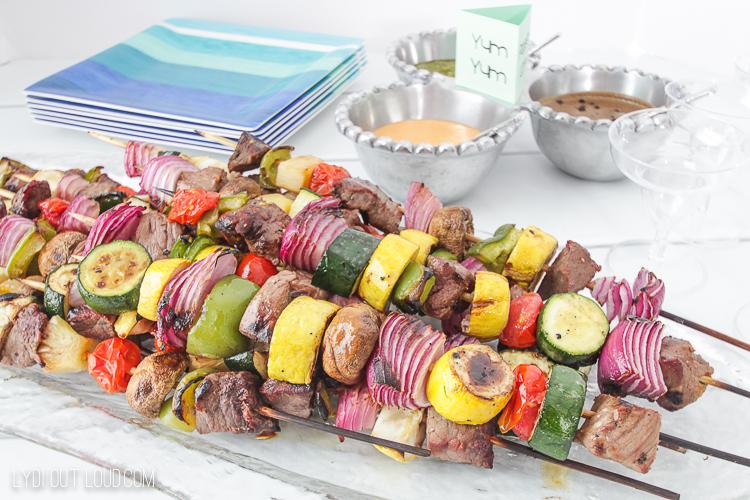 Grilled Beef Kabob Bar