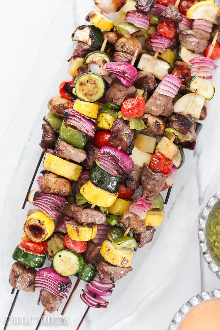Grilled Steak Kabob Bar Ideas
