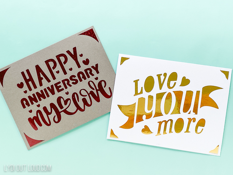 Cricut Joy anniversary cards