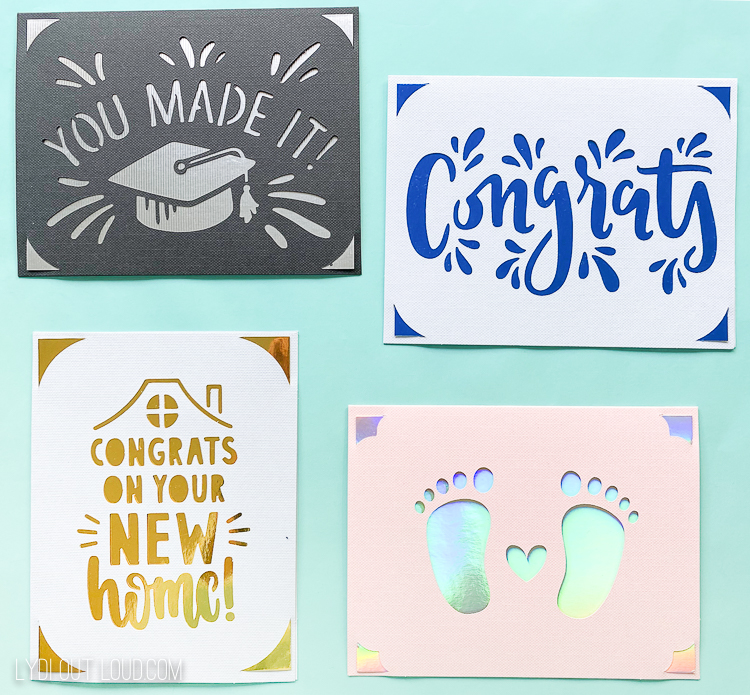Cricut Joy congratulations cards