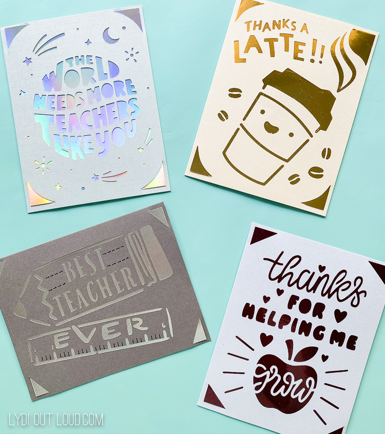 Cricut Joy teacher cards