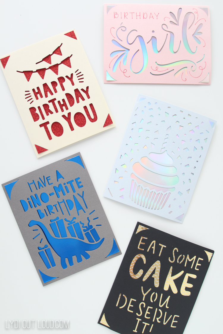 Cricut Joy birthday cards