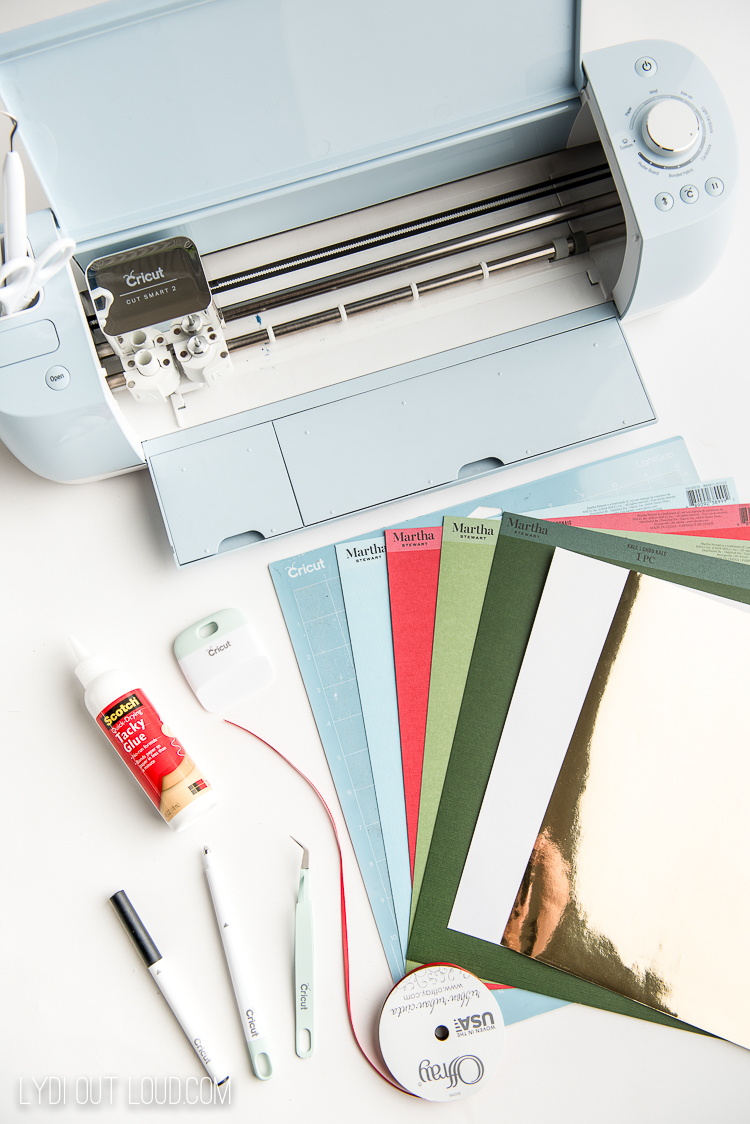 Cricut holiday cards supplies