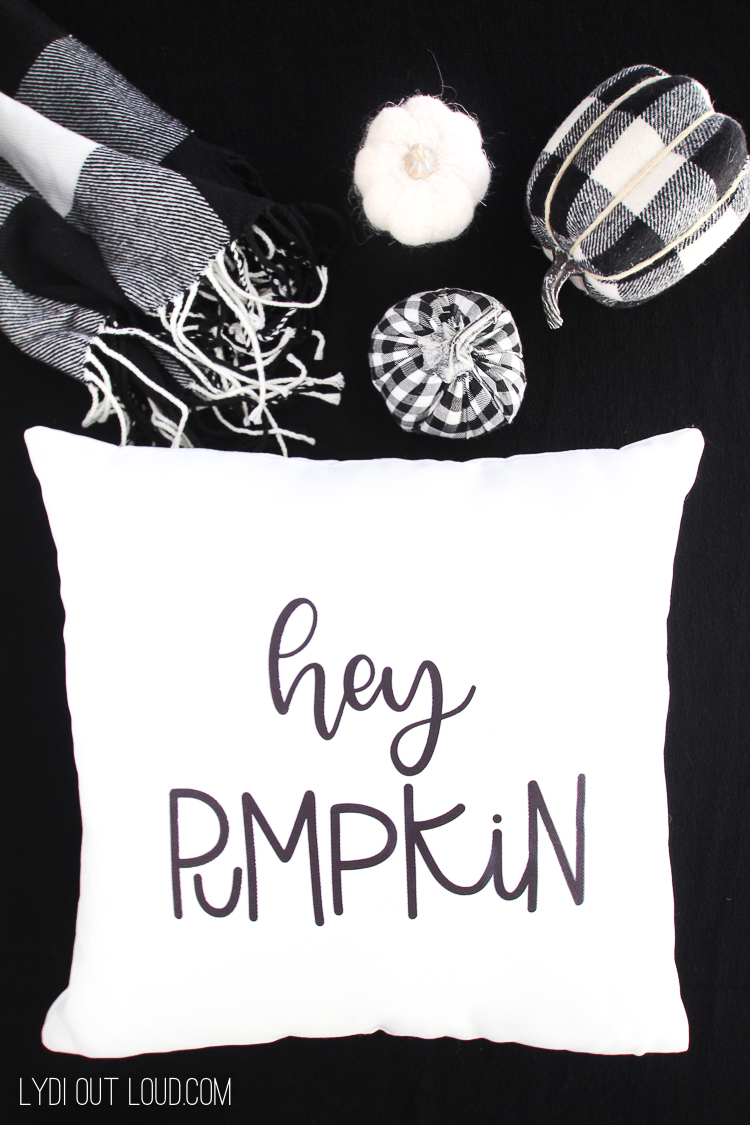 Hey Pumpkin Infusible Ink DIY Throw Pillow Cover