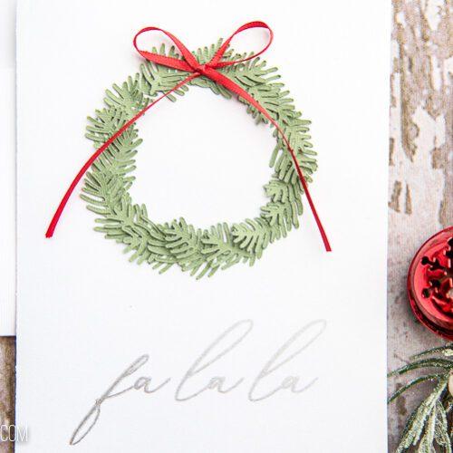 Fa la la Cricut Christmas card
