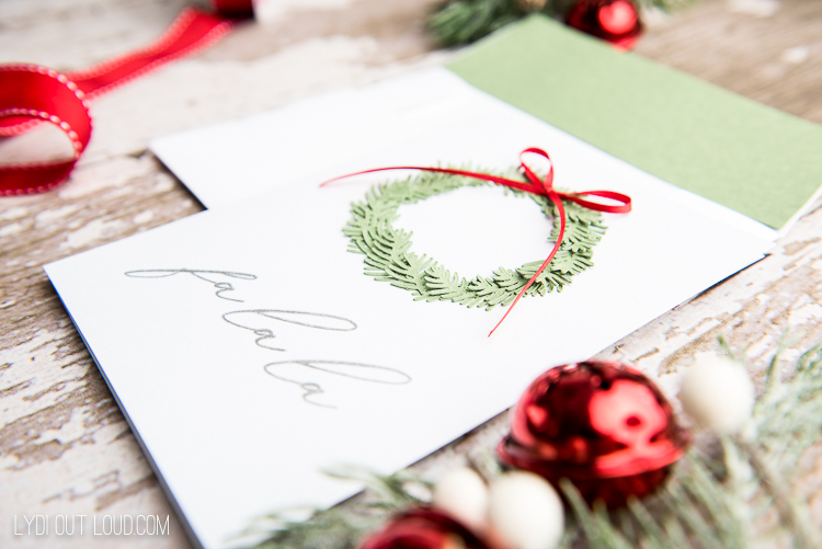 Cards to make with a Cricut for Christmas