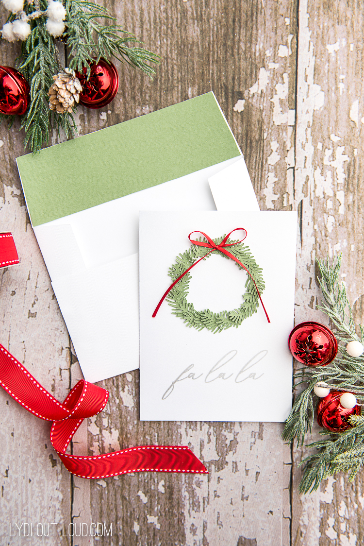 Beautiful Homemade Christmas Cards made using a Cricut
