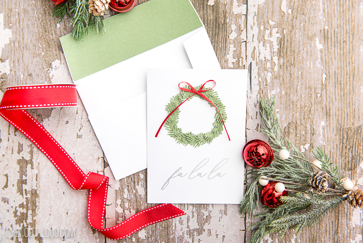 Paper Wreath Diy Christmas Cards With A Cricut Lydi Out Loud