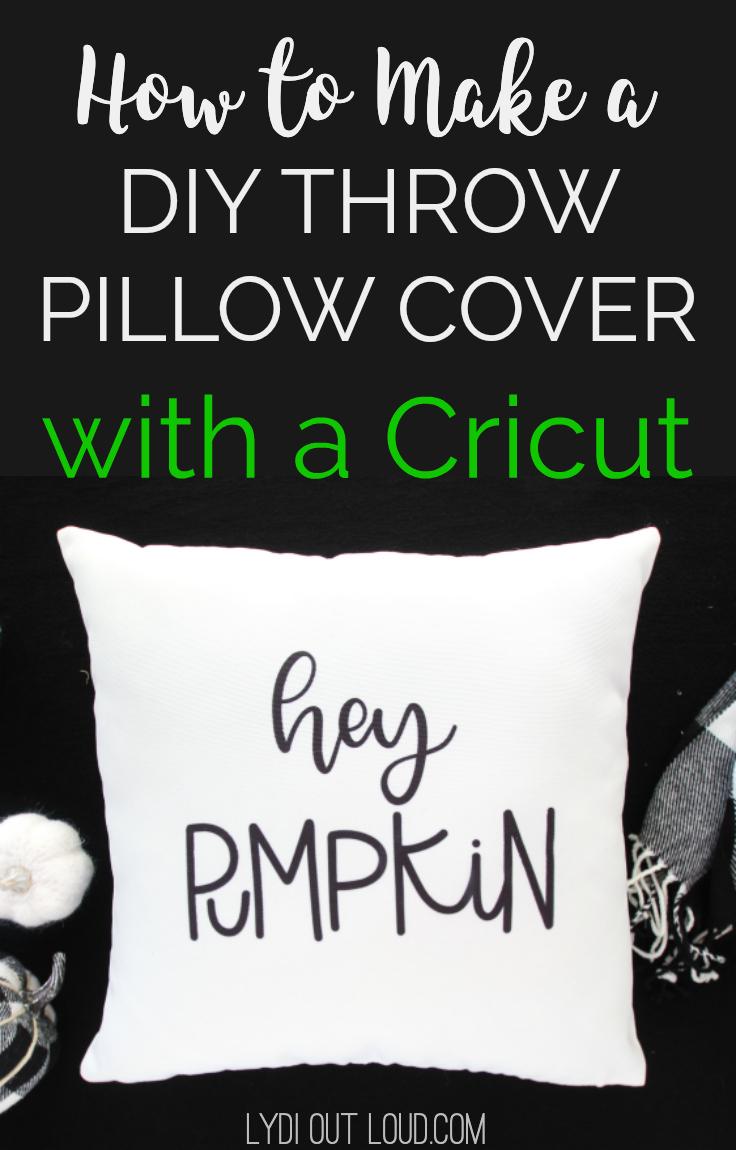Hey Pumpkin Diy Throw Pillow Cover Lydi Out Loud