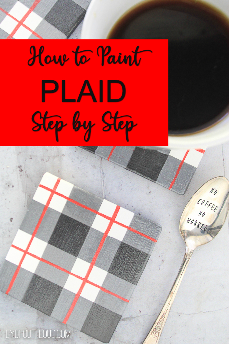 Learn how to paint plaid with this simple step by step tutorial! via @lydioutloud