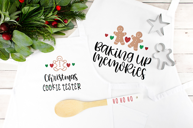 Christmas Baking Crew DIY Iron-on Aprons