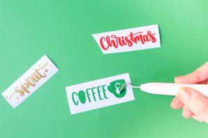adhesive vinyl for christmas coffee mug