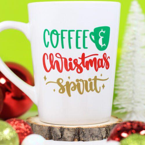 Coffee & Christmas Spirit Cricut Christmas Mug