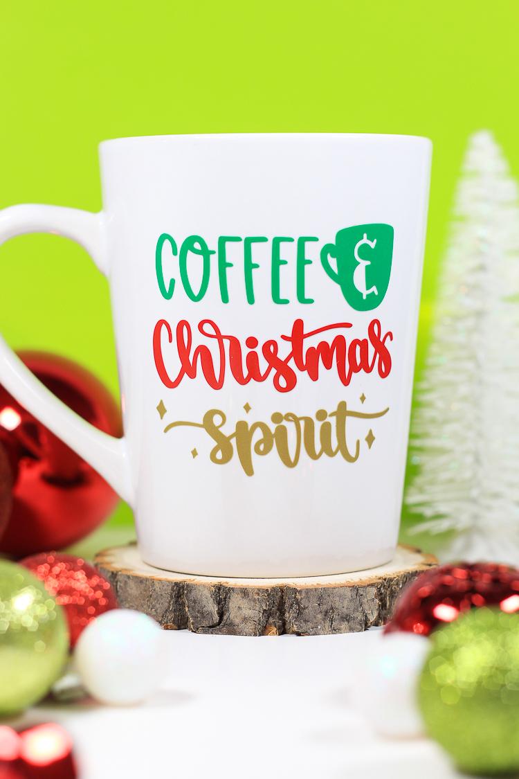 How To Make A Christmas Mug With A Cricut Machine Lydi Out Loud