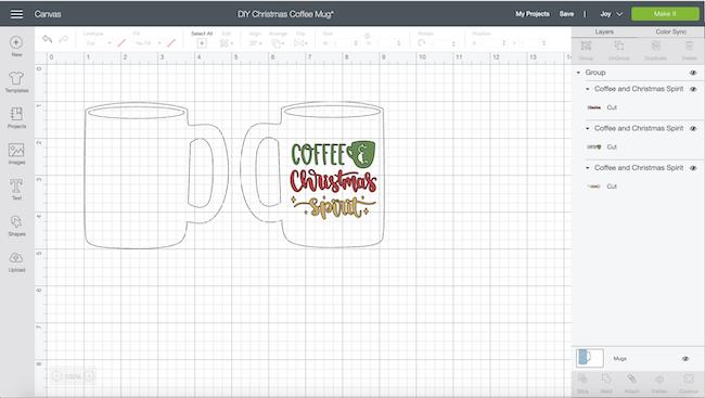 Cricut mug template