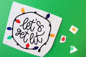 let's get lit vinyl candle decal