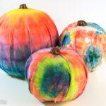 How to make tie dye pumpkins