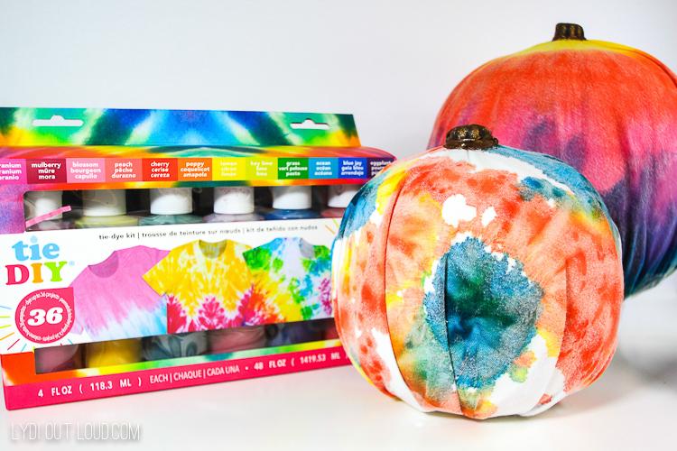 Tie DIY pumpkins