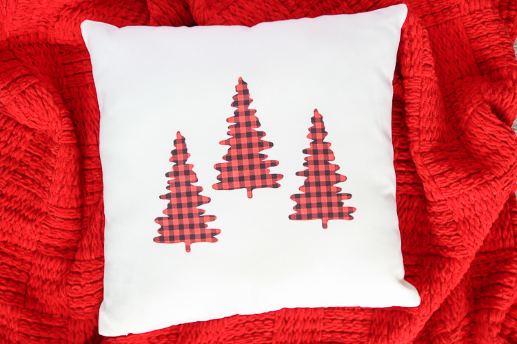 Red and Black Buffalo Plaid Christmas Pillow Cover