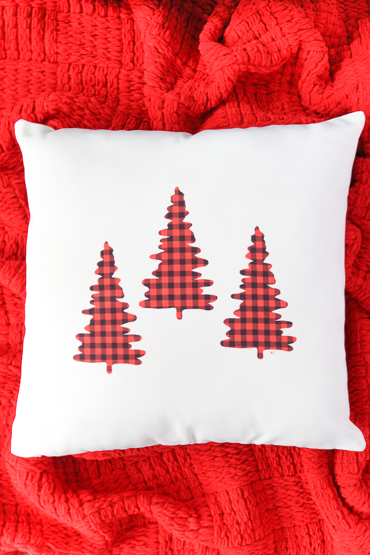 Red and Black Buffalo Check Throw Pillow Cover
