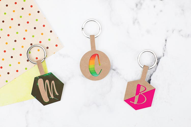 Personalized Initial Keychains with a Cricut