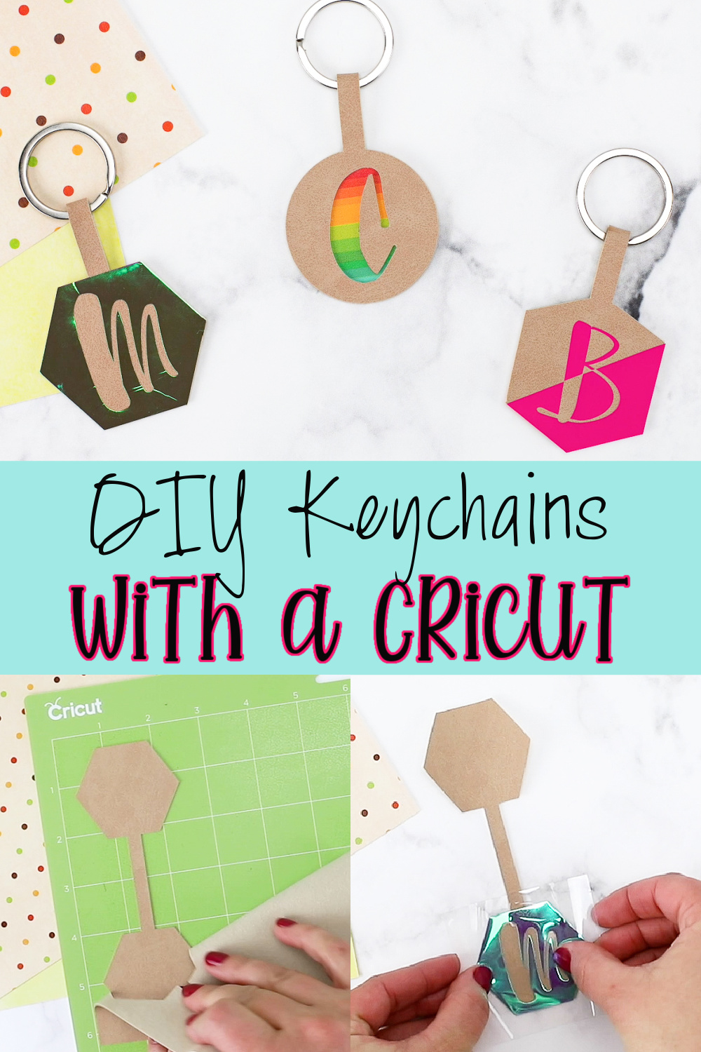 DIY Personalized Keychains with a Cricut via @lydioutloud