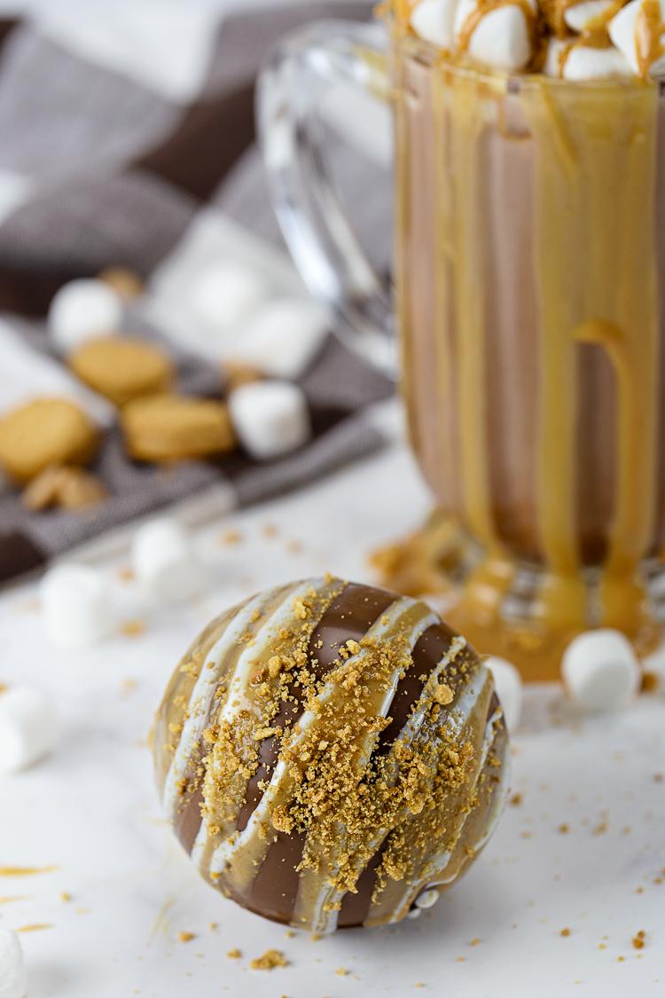 Fluffer Nutter Butter Hot Chocolate Bomb