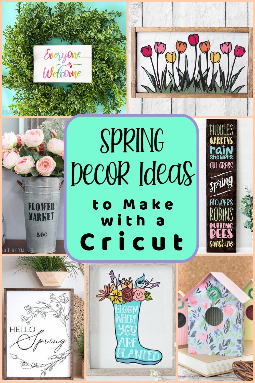 30+ Spring Decor Ideas to Make with a Cricut via @lydioutloud