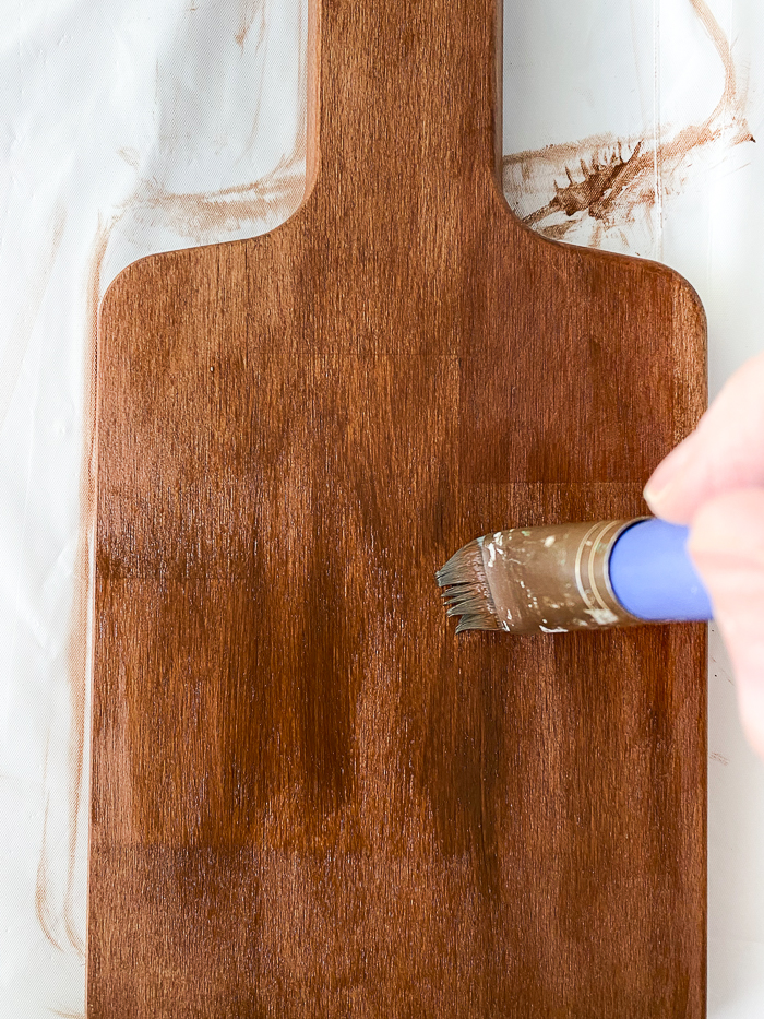 stained ikea cutting board
