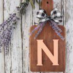 diy rustic cutting board kitchen sign